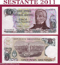 ARGENTINA  - 5 PESOS ARGENTINOS 1983 SIGN. VARIETY 2  - P. 312 - FDS/UNC
