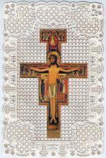 SANTINO HOLY CARD MERLETTATO CANIVET CROCIFISSO CROCE DI SAN DAMIANO