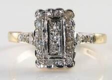 9K 9CT GOLD ENGLISH EDWARDIAN INS NATURAL DIAMOND RING FREE RESIZE