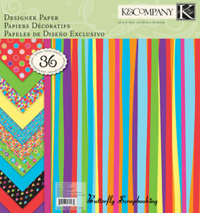 HAPPY BIRTHDAY 2 U 12X12 Scrapbooking Paper Pad 36 Sheets K&Company 30-572232