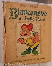 BIANCANEVE E I SETTE NANI Walt Disney Mondadori 1955 Narrativa Ragazzi Classici