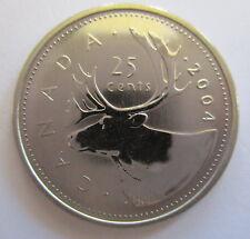 2004P CANADA 25 CENTS SPECIMEN QUARTER COIN