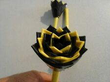 Duct Tape Flower Pens Set of 3  Black and Yellow 258388