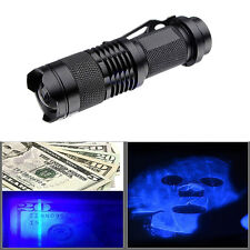 UV Ultra Violet Light Torch LED Clip Flashlight Mini Blacklight Torch Lamp