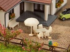 FALLER 272905 Tables, Chairs & Sunshades 'N' Gauge Plastic Model Accessories