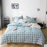 3D Blue Grid ZHUA2936 Bed Pillowcases Quilt Duvet Cover Set Queen King Zoe