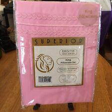 Superior King Nwt Pillowcase Set Pink 20�x40� Executive 300O 100% Microfiber