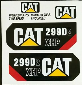Caterpillar  299D2 XHP  Decal Kit cat Skid Steer stickers USA fast free shipping