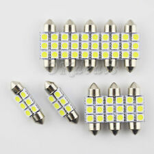 10pcs Festoon 39mm 3W 270lm 6SMD 5050 LED White Light License Plate Lamp 12V