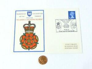 1972 Transfer of the Adoption Preston Town Queen's Lancashire Regiment COVER
