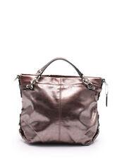 COACH handbag enamel leather metallic purple silver 2WAY