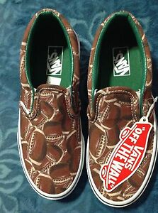 VANS Classic Slip-Ons Sports Football Green Shoes Kids Size 10.5  new