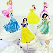 24 X Disney Princesses Snow White, Beauty  toppers Cupcake Cup Cake Topper Party