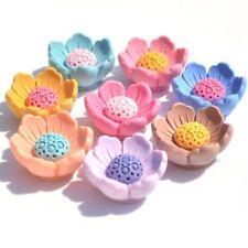 12Pcs Mezclados Botones de Resina de Flor de Loto artesanías Accesorios Flatback álbumes de recortes