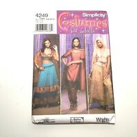 Simplicity 4249 India Kurta Churidar Choli Sari Wraps Skirt Pattern 6-12