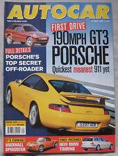 AUTOCAR 19/5/1999 featuring Porsche 911 GT3, Strathcarron SC-4, VW Beetle, Honda