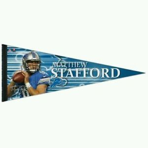 Matthew Stafford Detroit Lions Premium Full Size Pennant Banner by Wincraft NWT