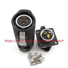 IP67 3Pin Industrial Connector Waterproof Adapter Reversal Type Male Female Plug