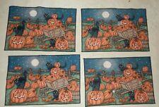 New listing 4 Cloth Halloween Pumpkin Patch Placemats