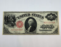 1917 $1 Large Size U.S. Legal Tender Note One Dollar VF-XF Red Seal Bill