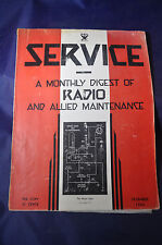 December 1933 Service Magazine Monthly Digest of Radio and Allied Maintenance