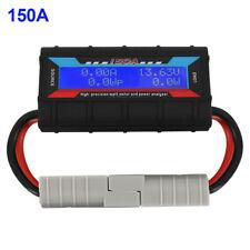 150A 12V Digital LCD Watt Meter Power Analyzer Volt Solar Amp Voltmeter Ammeter