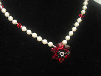 Necklace or Bracelet or Set Green Red made with Swarovski Elements 925 Silver