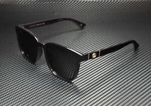 GUCCI GG0637SK 001 Rectangular Square Black Gold Black Grey 56 Men's Sunglasses