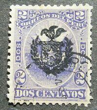 Chile occupation in Peru 1881/82 Peru Stamps Overpt 2C violet, Mi #2 used signed
