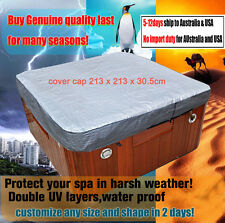 customize vary size Hot Tub Spa Cover Cap Waterproof Protector 213x213x30.5
