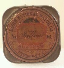 Elgin National Watch Co Pocket Watch Movement Holder/TIn
