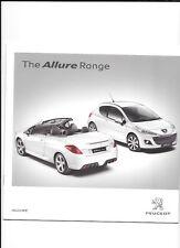 Gamme PEUGEOT allure - 107, 207, 308 et 307cc voiture brochure MARS 2010 + prix