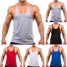 Hombre Chaleco Gimnasio de Tirantes Top Entrenamiento Fitness Músculo sin Mangas