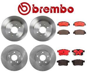 For Honda Accord '13-'19 Brembo Front & Rear Brake Kit Disc Rotors Ceramic Pads