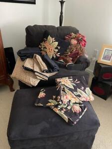 Ralph Lauren CHARLESTON Queen Flat Sheet + 2 Standard Pillow Cases