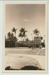 RPPC Standard Oil Sears store with Navy Sailors WWII 1940s real photo postcard