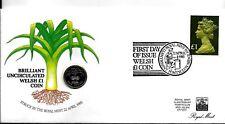 1985 PNC UNC GALLESE MONETA COVER GRADO A CONDIZIONI 22-04-1985 MOLTO BELLO
