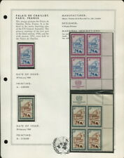 MNH UNITED NATIONS ON ALBUM PAGES 1959 TO 1967!