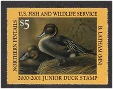 JDS8-JDS 8 2000 Federal Junior Duck Stamp VF OGNH-$525CV PENNY START-NO RESERVE!