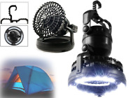 2 in 1 18 LED Flexible Tent Camping Light with Ceiling Fan Outdoor Lantern