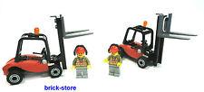 LEGO CITY / ferrovia (60052) CARRELLO ELEVATORE CON PERSONAGGIO / 2 pezzi