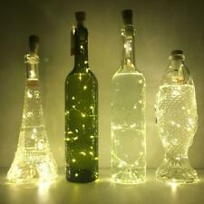 Rechargeable USB LED Bottle Cork Wire Fairy String Lights  - Twin Pack