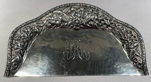Rare Antique Jacobi & Jenkins Repousse Baltimore Sterling Crumb Scraper/Tray