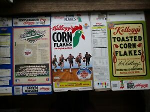 3 Kelloggs Boxes 1991 Olympic, Bird, Robinson, 1991 Twins, 90 Year Collectors