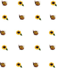 Sunflowers ***CHILD SIZED*** Waterslide/ Water Transfer Nail Decals/Nail Art