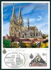 Federale MK 1987 Papa-visita colonia Dom Pope maximum scheda MAXIMUM CARD MC cm bs53