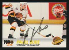 1992-93 Pro Set Hockey #192 PAVEL BURE (Vancouver Canucks) *AUTOGRAPHED*
