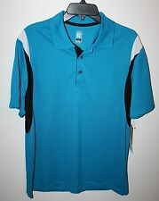 PGA TOUR DRY Mens Size M Striped Sleeve Polo/Golf Shirt Short Sleeve NEW NWT