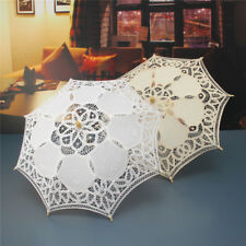 Ombrelle Dentelle Broderie Coton Elégant Mariage Mariée Mode Parapluie Parasol