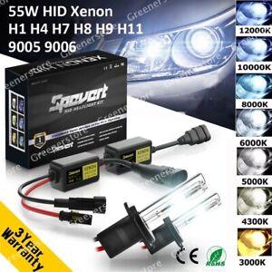55W H1 H3 H7 H8/9/11 9005/6 CANBUS Car HID Xenon Headlight Ballast Bulb Lamp Kit